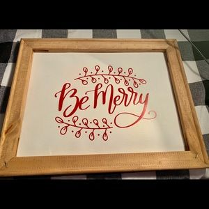 """Christmas """" Be Merry"""" Canvas"""